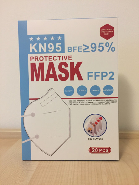 20 pieces of respiratory protective mask FFP2/KN95 (CE certified)
