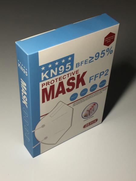 20 Stück FFP2/KN95 Atemschutzmasken (CE zertifiziert)